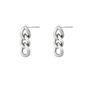 oorbellen-triple-chain-zilver-stainless-steel-30mm