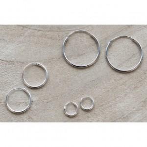 Karma oorringen / creolen maat 8mm t/m 20mm 925 sterling zilver (per paar)