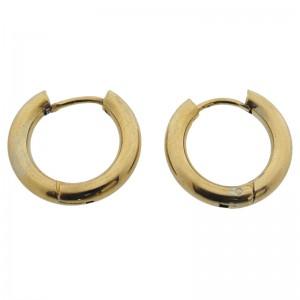 Oorringen creolen stainless steel 14mm (dikte 3mm) goud