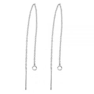 Oorsteker ketting (105 mm) zilver (per paar)