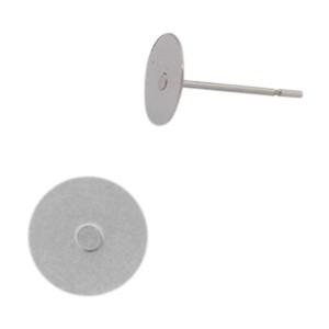 Oorstekers stainless steel 12x8mm zilver (per paar)