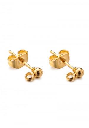 oorstekers-stainless-steel-3mm-goud-per-paar