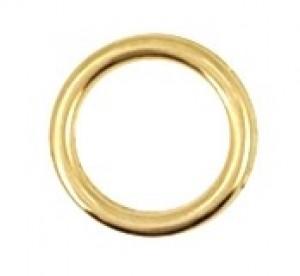 Bedel tussenzetsel open circle DQ metaal goud 12mm