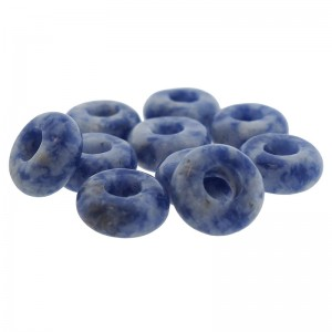 Donut edelsteen kraal blue spot jasper 10.5mm