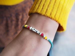 DIY pakket zilveren kralen armband miyuki rocailles en natuursteen