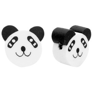 Panda kraal black white 10mm (per stuk)
