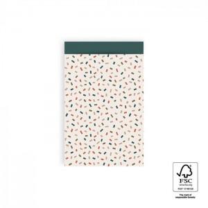 Papieren cadeauzakjes / inpakzakjes Confetti Multi 12×19cm bright (per 5 stuks)