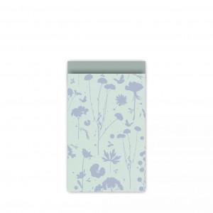 Papieren cadeauzakjes / inpakzakjes GROW 12×19cm mint blauw salie (per 5 stuks)