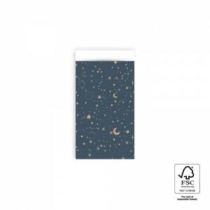 Papieren cadeauzakjes / inpakzakjes night 7x13cm (per 5 stuks)