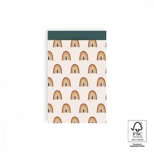 Papieren cadeauzakjes / inpakzakjes Rainbow 12×19cm regenboog (per 5 stuks)