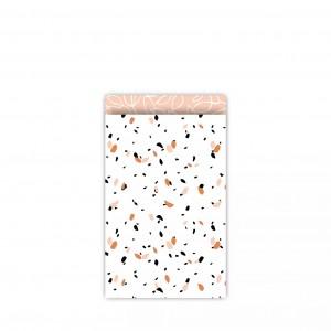 Papieren cadeauzakjes / inpakzakjes SOW 12×19cm peach (per 5 stuks)