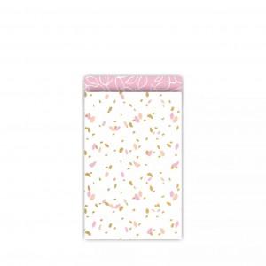 Papieren cadeauzakjes / inpakzakjes SOW 12×19cm roze (per 5 stuks)
