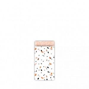 Papieren cadeauzakjes / inpakzakjes SOW 7x13cm peach (per 5 stuks)