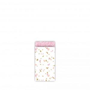 Papieren cadeauzakjes / inpakzakjes SOW 7x13cm roze (per 5 stuks)