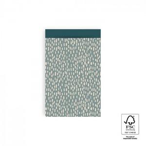 Papieren cadeauzakjes / inpakzakjes Sparkles 12×19cm blue petrol (per 5 stuks)