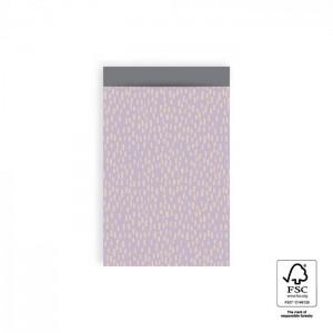 Papieren cadeauzakjes / inpakzakjes Sparkles 12×19cm lila grey (per 5 stuks)