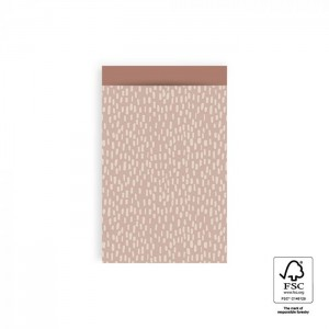 Papieren cadeauzakjes / inpakzakjes Sparkles 12×19cm pink blush (per 5 stuks)