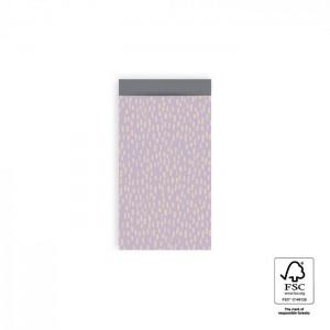 Papieren cadeauzakjes / inpakzakjes Sparkles 7x13cm lila grey (per 5 stuks)