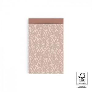 Papieren cadeauzakjes / inpakzakjes sparkles pink blush 12x19cm (per 5 stuks)