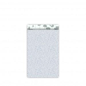 Papieren cadeauzakjes / inpakzakjes Spring Cubes 12×19cm blauw salie (per 5 stuks)