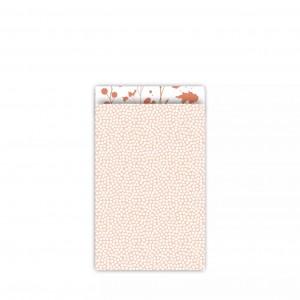 Papieren cadeauzakjes / inpakzakjes Spring Cubes 12×19cm peach roest (per 5 stuks)