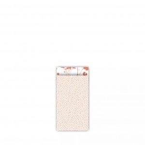 Papieren cadeauzakjes / inpakzakjes Spring Cubes 7x13cm peach roest (per 5 stuks)