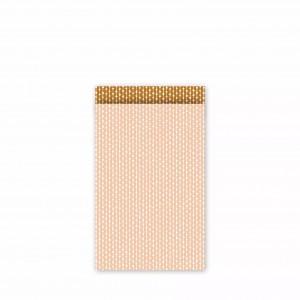 Papieren cadeauzakjes / inpakzakjes 'connecting dots natural' 12×19cm blush roest (per 5 stuks)