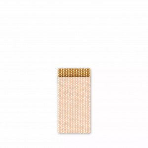 Papieren cadeauzakjes / inpakzakjes 'connecting dots natural' 7x13cm blush roest (per 5 stuks)
