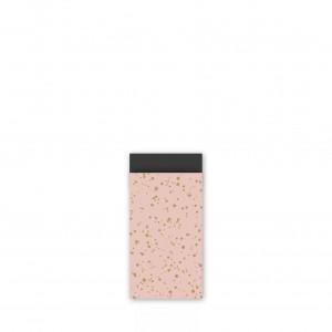 Papieren cadeauzakjes / inpakzakjes 'twinkling stars' 7x13cm roze goud zwart (per 5 stuks)