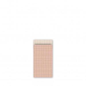 Papieren cadeauzakjes / inpakzakjes 'wishing you the best' 7x13cm roze goud blush (per 5 stuks)