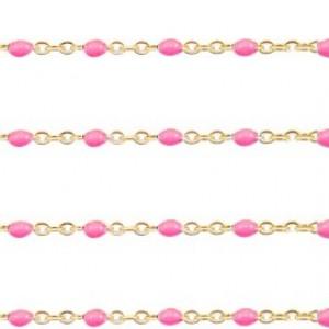 stainless-steel-balletjes-jasseron-1mm-pink-goud-per-20cm