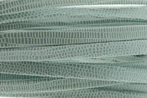 Plat leer met print 5mm lizard light blue per 20cm
