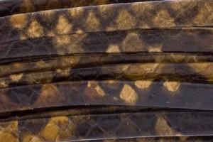 Plat leer met print 5mm python brown per 20cm