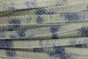 Plat leer met print 5mm washed jeans per 20cm