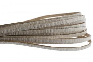 Plat metallic leer 5mm beige metallic per 20cm