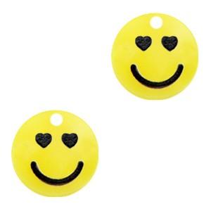 Plexx bedel smiley rond hearts sunrise yellow 12mm