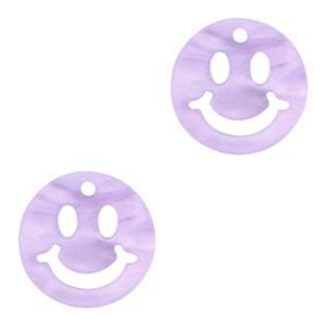 Plexx bedel smiley rond mirror shiny lavender purple 12mm