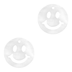 Plexx bedel smiley rond mirror shiny white 12mm