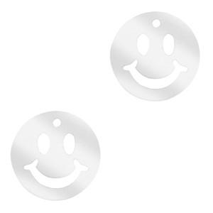 Plexx bedel smiley rond mirror silver 12mm