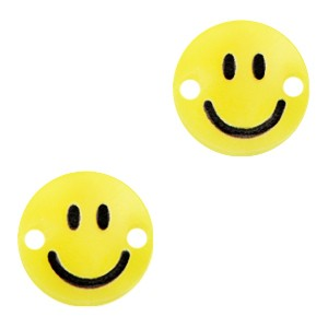 Plexx bedel tussenzetsel smiley rond sunrise yellow 12mm