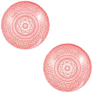 Polaris basic cabochon 12mm mandala coral orange