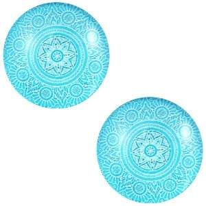 Polaris basic cabochon 12mm mandala deep sky blue