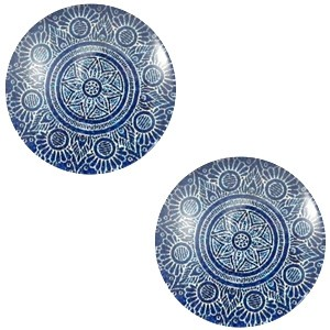 Polaris basic cabochon 12mm mandala denim blue