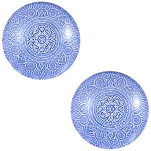 Polaris basic cabochon 12mm mandala light lobelia blue