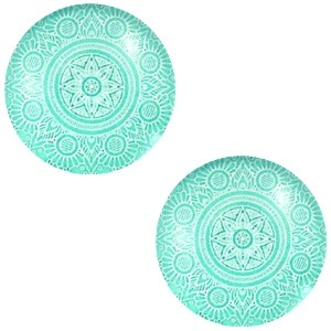 Polaris basic cabochon 12mm mandala lucite green
