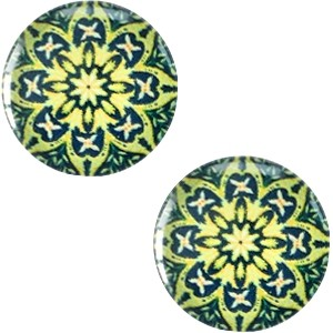 Polaris basic cabochon 20mm mandala multicolor groen 2