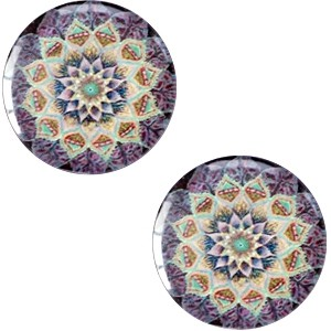 Polaris basic cabochon 20mm mandala multicolor tanzanite turquoise