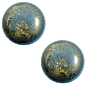 Polaris cabochon 12mm classic stardust blue shade