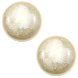 Polaris cabochon 12mm classic stardust cream white