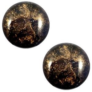 Polaris cabochon 12mm classic stardust dark brown
